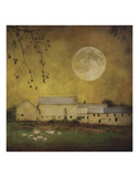 Sheep Under a Harvest Moon Posters by Dawne Polis