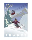 Ski France Plakater af Kem Mcnair