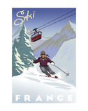 Ski France Posters av Kem Mcnair