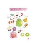 Spring Fruit Prints by Lucile Prache