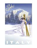 Ski Italy Kunst af Kem Mcnair