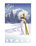 Ski Italy Art by Kem Mcnair
