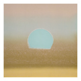 Sunset, 1972 (gold, blue) Posters by Andy Warhol