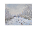 Snow at Argenteuil, 1875 Prints by Claude Monet