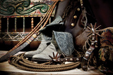 TC's Boots and Yuma Spurs (color) Prints by Barry Hart