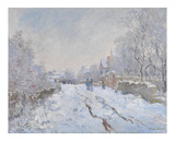 Snow at Argenteuil, 1875 Posters by Claude Monet