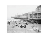 Steel Pier, Atlantic City, NJ, c. 1904 Print by  Vintage Photography