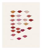 Stamped Lips, c. 1959 Kunstdrucke von Andy Warhol