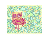 Spring Owl Art by  My Zoetrope