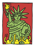 Keith Haring - Statue of Liberty, 1986 Plakát