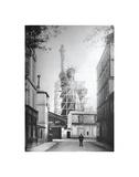 Freiheitsstatue in Paris, 1886 Poster von  Vintage Photography