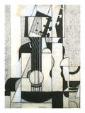 Still Life with Guitar Arte por Juan Gris