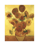 Sunflowers on Gold, 1888 Giclee Print by Vincent van Gogh