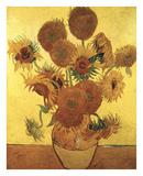 Jarrón con girasoles, 1888 Pósters por Vincent van Gogh