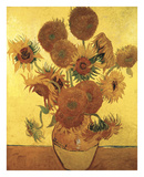 Sunflowers on Gold, 1888 Posters by Vincent van Gogh