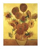 Sunflowers on Gold, 1888 Giclée-tryk af Vincent van Gogh