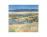 Summer Fields with Mountains Prints by Jeannie Sellmer