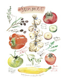 Summer Vegetables Art by Lucile Prache