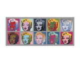 Ten Marilyns, 1967 Poster par Andy Warhol
