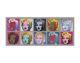 Ten Marilyns, 1967 ポスター : アンディ・ウォーホル