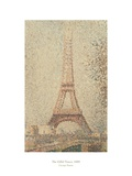 The Eiffel Tower, 1889 Poster by Georges Seurat