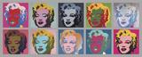Andy Warhol - Ten Marilyns, 1967 - Reprodüksiyon