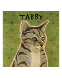 Tabby (grey) (square) Art by John W. Golden