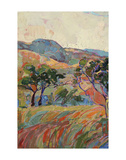 Summer in Triptych (left) Print by Erin Hanson