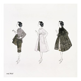 Three Female Fashion Figures, c. 1959 Posters by Andy Warhol