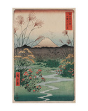 The Coast at Hota, from the series Thirty-six Views of Mount Fuji, 1858 Posters by Ando Hiroshige