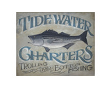 Tidewater Charters Art by  Zeke's Antique Signs