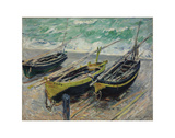 Three Fishing Boats, 1886 Poster by Claude Monet