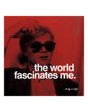 The world fascinates me Posters av Andy Warhol