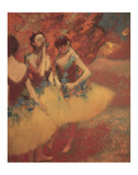Three Dancers in Yellow Skirts, 1891 Poster by Edgar Degas