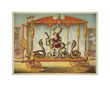 The Snake Wagon Art by  Vintage Reproduction