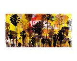 Sunset and Palms 2 Posters by Sven Pfrommer