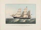 "The Clipper Ship ""Sovereign of the Seas"", 1852 Prints by Nathaniel Currier"