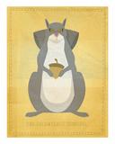 The Relentless Squirrel Prints by John W. Golden