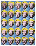 VIngt cinq Marilyns colorées, 1962 Posters par Andy Warhol
