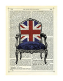 Union Jack Chair Prints by Marion Mcconaghie