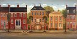 Town Houses II Print by Diane Ulmer Pedersen