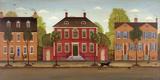 Town Houses I Print by Diane Ulmer Pedersen