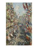 The Rue Montorgueil in Paris Celebration of June 30, 1878 Poster by Claude Monet