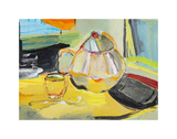 Tea Tray Print by Joan Davis