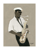 William Buffett - Tenor Saxophone Player - Art Print