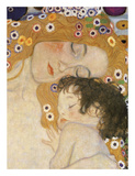 The Three Ages of Woman (detail) Print by Gustav Klimt