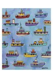 Tugboats Print by Brian Nash