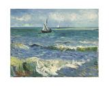 The Sea at Les Saintes-Maries-de-la-Mer, 1888 Poster af Vincent van Gogh