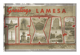 Texas Greetings Poster by  Vintage Vacation