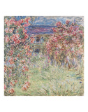 The House Among the Roses, between 1917 and 1919 Poster by Claude Monet